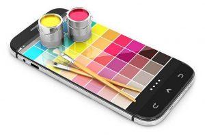 Pantone de un color en Smartphone